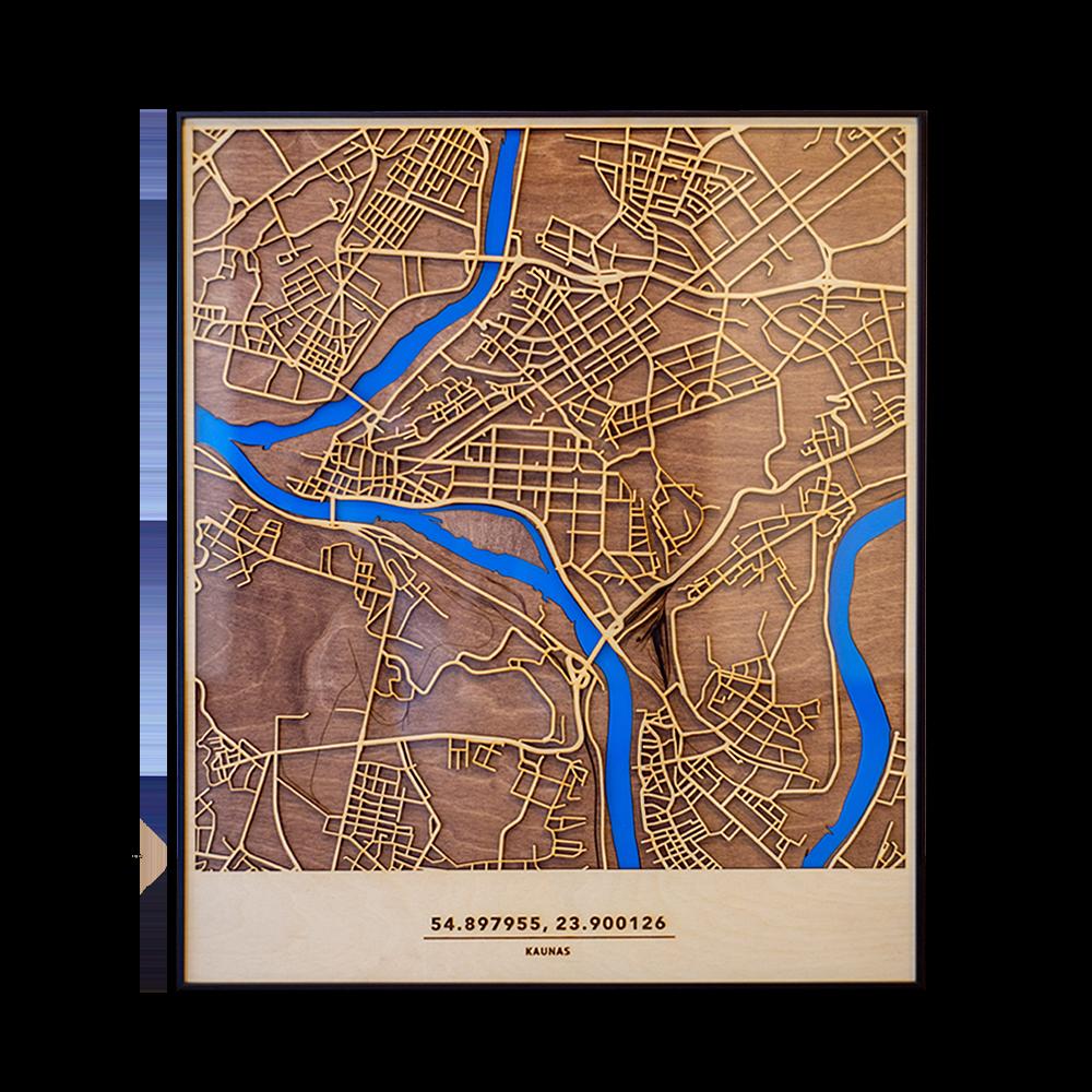 Medinis Kauno žemėlapis